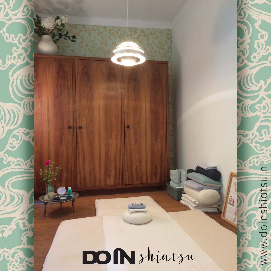 Praktijkruimte Do In Shiatsu met futon.